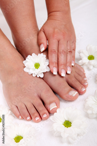 Poster Pedicure Spa and wellness theme with beautiful and neat feet