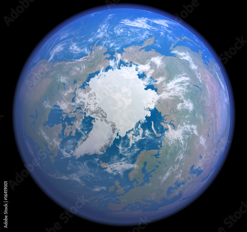 Plakaty ziemia norpol-z-kosmosu