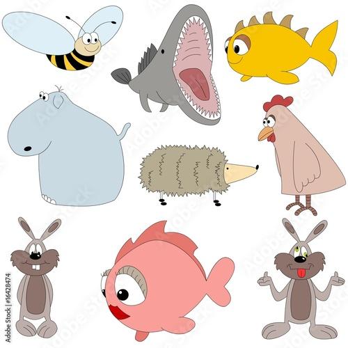 Fototapeta Zwierzaki różne (zestaw) obraz