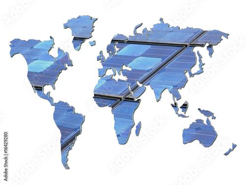 In de dag Wereldkaart 3D Solarweltkarte