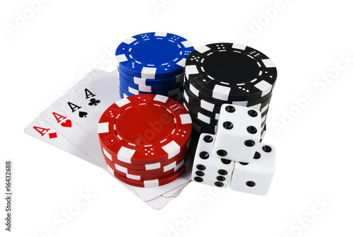 Cuadros en Lienzo Poker Cards, Chips and Dices