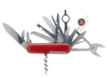 Swiss Army Knife With Clipping Path