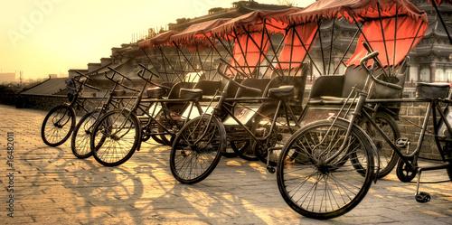 Foto op Plexiglas Xian Xi'an / China - Town wall with bicycles
