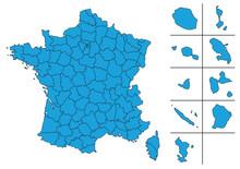 Carte De France Vectoriel Avec...