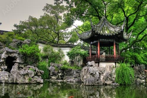 "Photo  Famous landmark ""Yu Yuan Gardens"" in Shanghai"