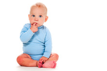 Baby Boy Thinking