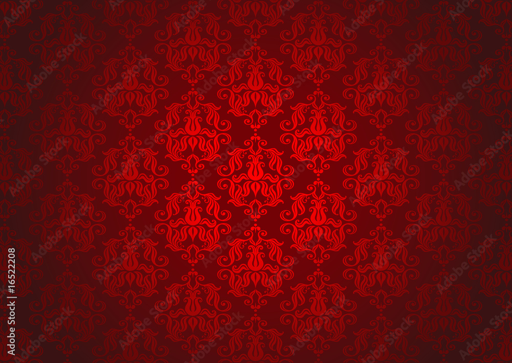 Luxury red ornamental pattern