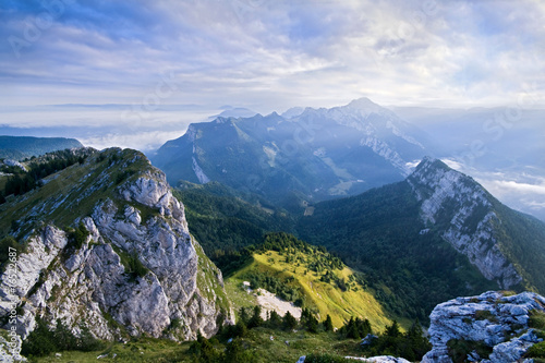 The mountain of Chartreuse in French alps Canvas Print