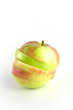 sliced apple isolated on the white background