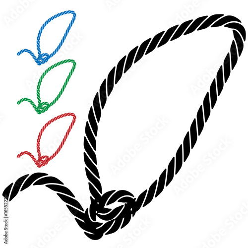 Fotomural lasso rope icon