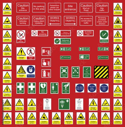 Plakaty BHP znaki-firm-branzy-budowlanej-i-biurowej
