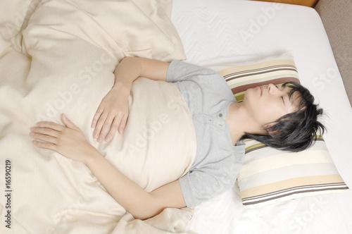 Fotografie, Obraz  眠っている男性