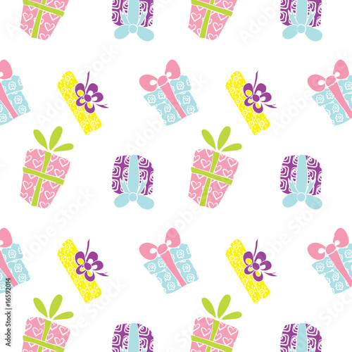 Poster Hibou Gift box pattern
