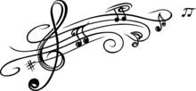 Noten, Notenschlüssel, Musikn...