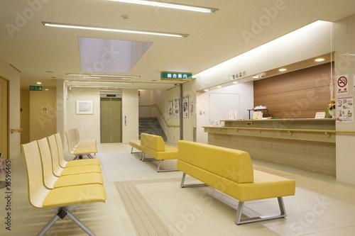 Fotografie, Obraz  病院の受付と待合のソファ