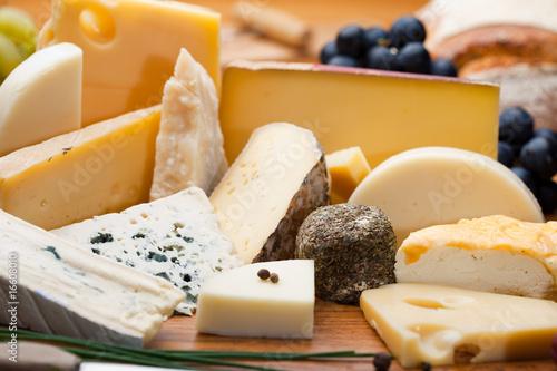 Fotografie, Obraz Assortiment et plateau de fromage