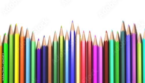 Fototapeta dla dzieci   blyszczace-kolorowe-kredki-w-szeregu
