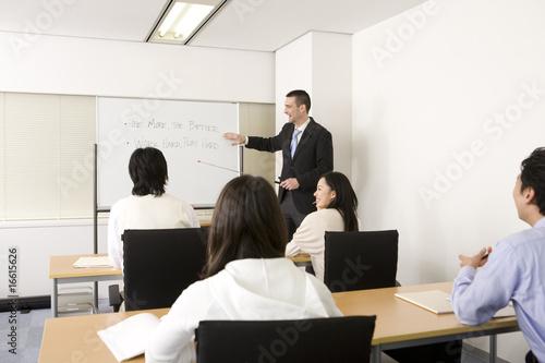 Fotografie, Obraz  英会話の授業風景