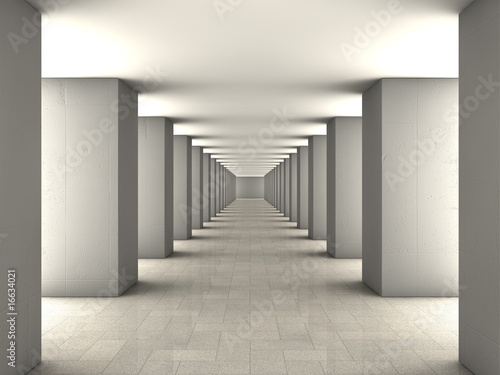 czarno-bialy-tunel-3d