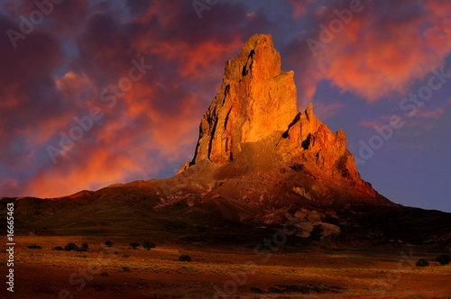Foto op Canvas Rood paars Monument Valley