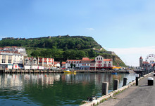 Scenic View Of Scarborough Castle And Harbor