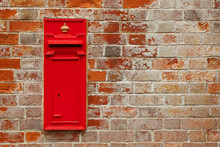 Traditional British Red Mail Box