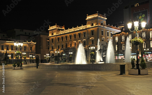 Kotzia square at night, Athens, Greece
