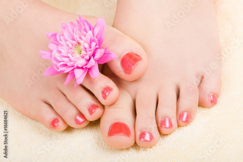 Canvas Prints Pedicure care for sensuality woman legs
