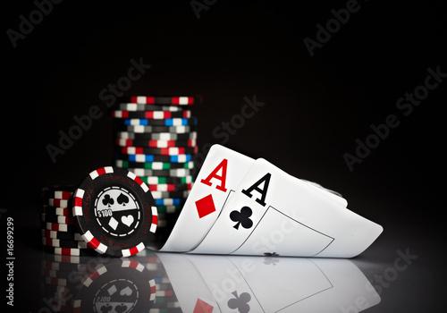 фотография  Photo gambling chips on the dark