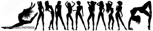 Photo Stands Draw Donne Vettoriali-Vector Girls-Femmes Vectorielles