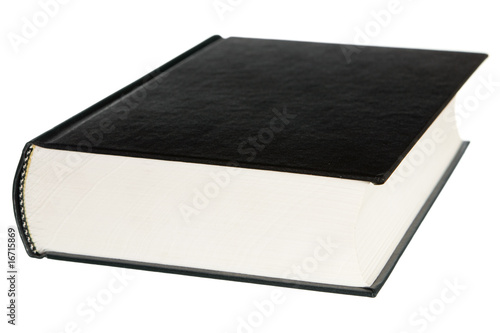 book isolated on a white background Poster