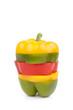 Colorful sliced Bell Pepper