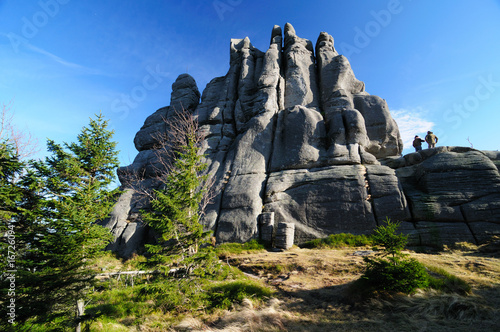 Pilgrim rock formation - karkonosze  mountains in Poland