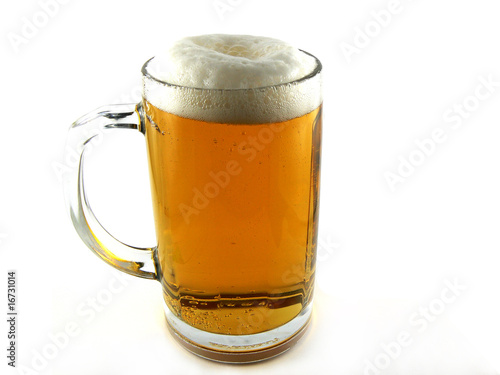 Beer goblet on white background Wallpaper Mural
