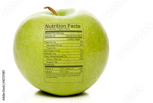 Fotografie, Obraz  Apple Nutrition Facts