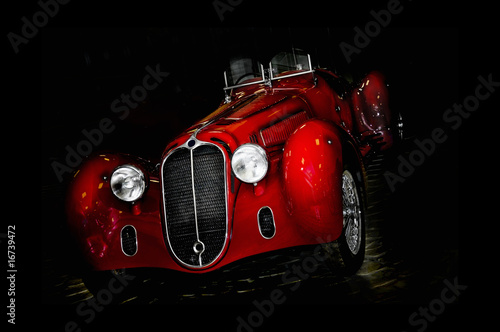 Deurstickers Oude auto s vintage car