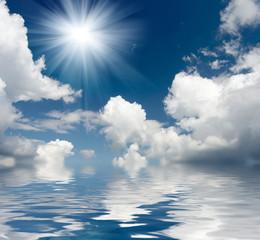Naklejka Eko Blue sky background