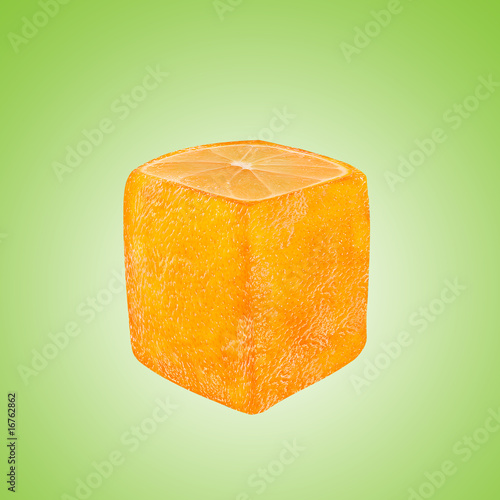 Abstract Orange Fruit Photo Manipulation With Clipping Path