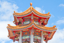 Colorful Chinese Style Temple Roof