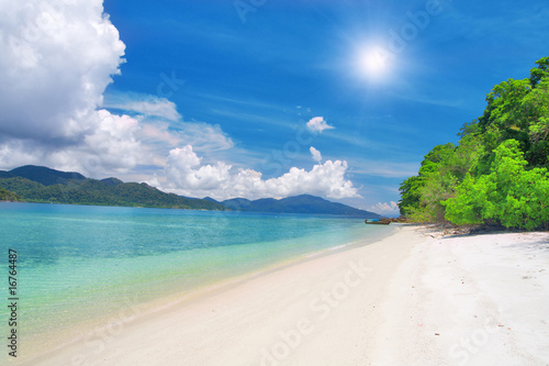 Foto-Schiebegardine Komplettsystem - beautiful tropical beach