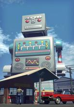 Giant Tin Toy Robot