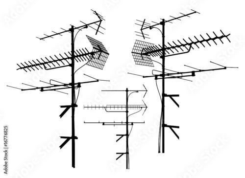 Canvas-taulu Antenna Vector 01