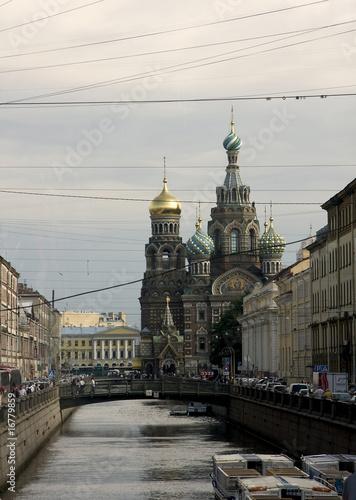 Tela  San Pietroburgo, Chiesa San Salvatore - Fiume Neva