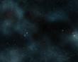 Digital created starfield with cosmic Nebula