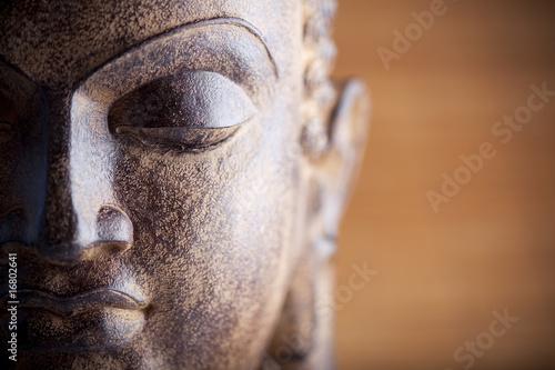Plissee mit Motiv - Statue de bouddha