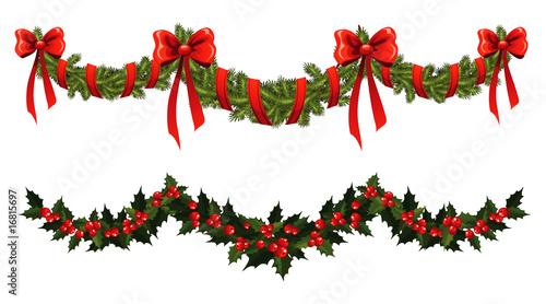 Fotografia  Christmas garland
