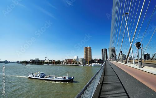 Foto op Canvas Rotterdam Erasmus bridge in Rotterdam
