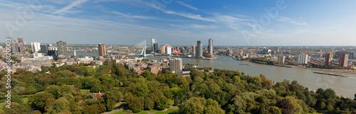 Staande foto Rotterdam aerial panorama image of Rotterdam