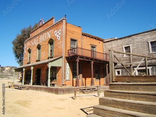 Photo  saloon de western