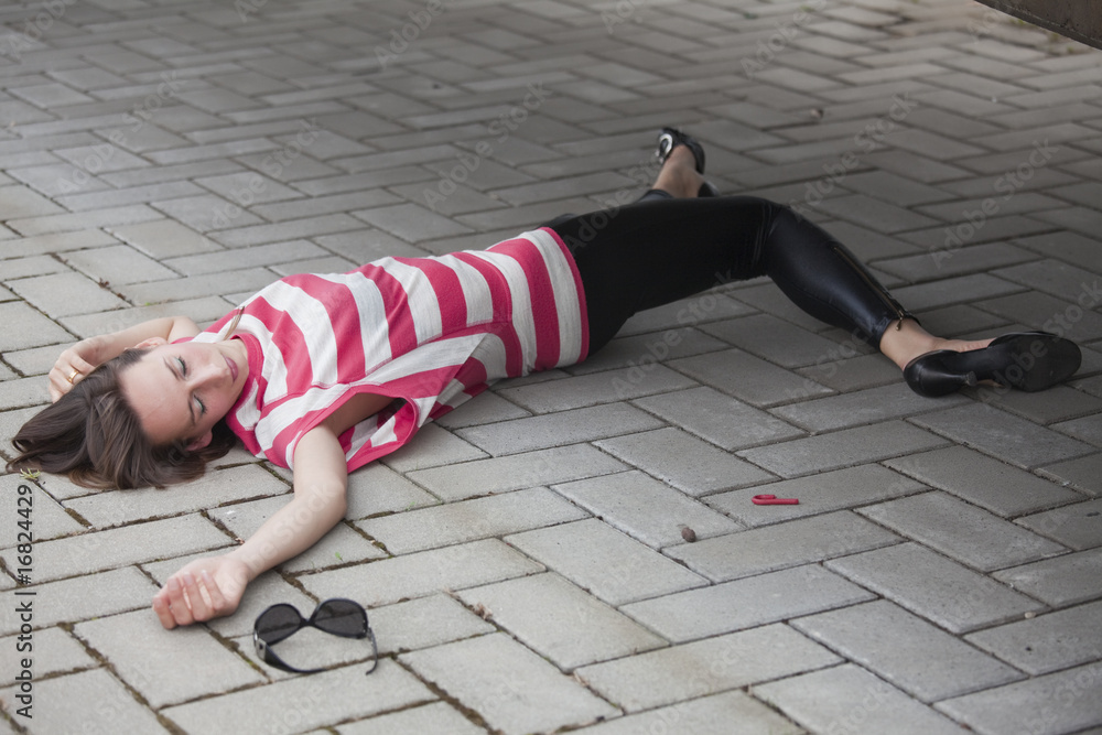 Fototapety, obrazy: murder and robbery on the street